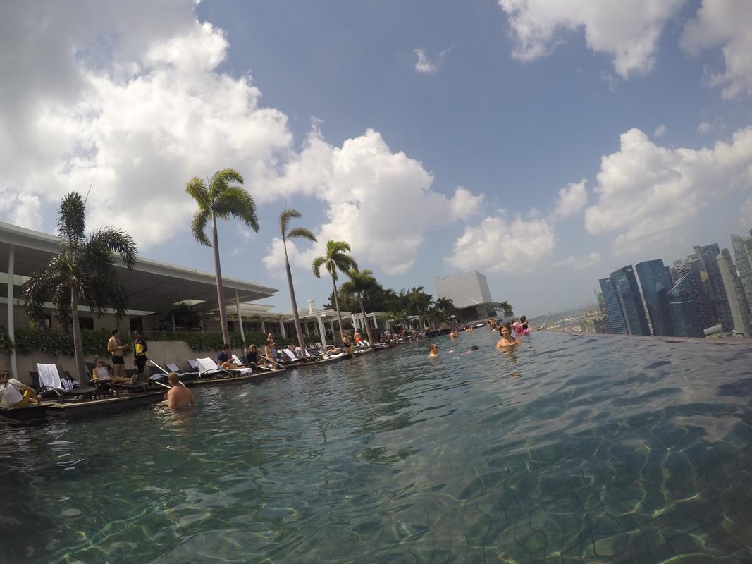 Singapur - Marina Bay - Pool view #10 - Michael Meixner