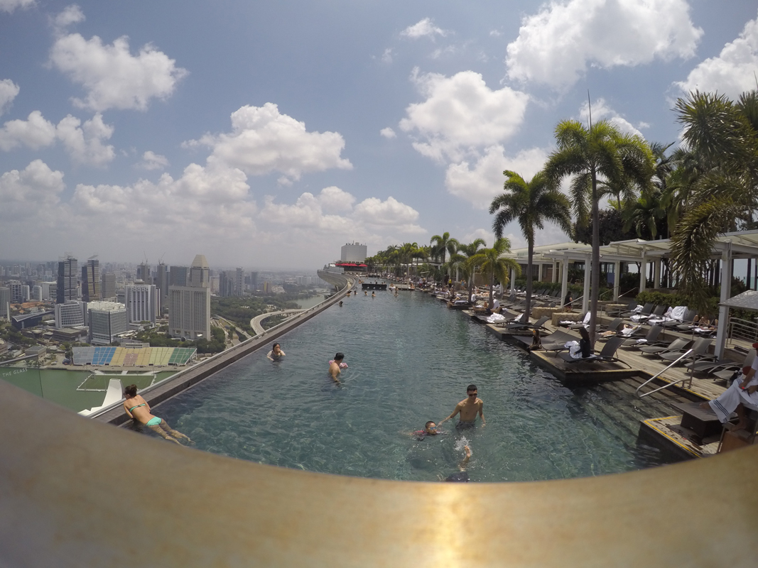 Singapur - Marina Bay - Pool view #12 - Michael Meixner